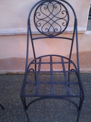 chaise en fer forgé 031